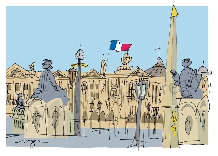 Paris Place de la Concorde fine - macgregorart | ello
