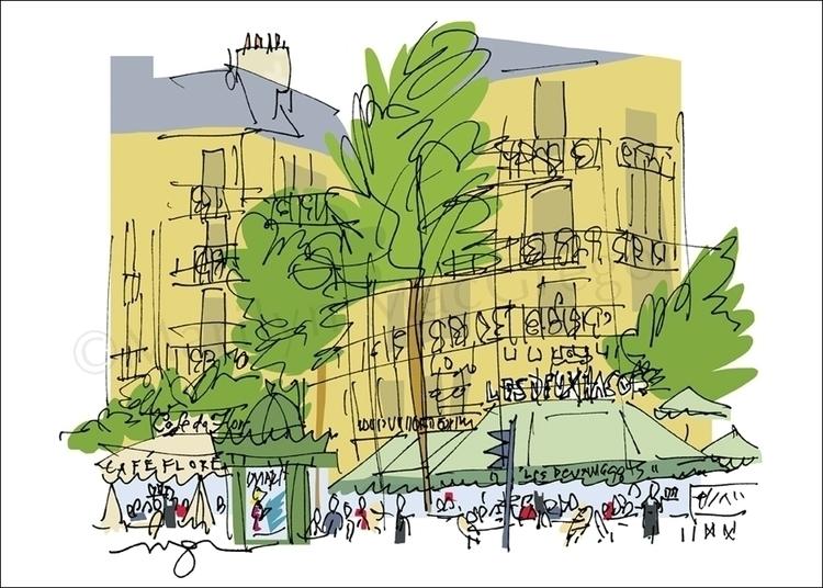 Paris St Germain Famous Cafes f - macgregorart | ello