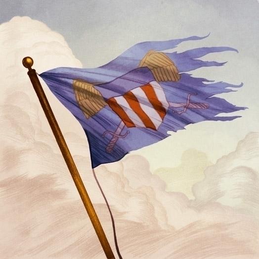Victory Token - flag, cardgame, illustration - timdurning | ello
