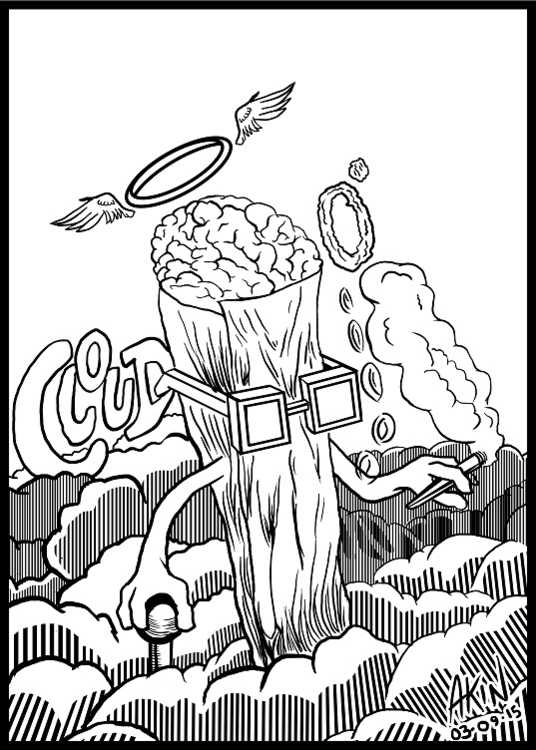 Cloud - illustration, characterdesign - akinwandeayodeji | ello