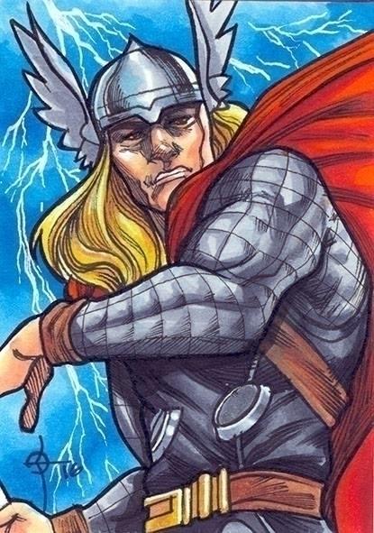 Thor - illustration, thealmightythor - leonbraojos   ello