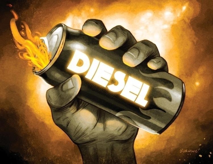 Diesel - Hand, fire, energydrink - timdurning | ello