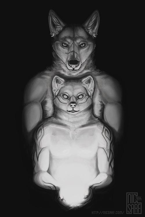 light, 2014 - anthro, illustration - nicsarf | ello