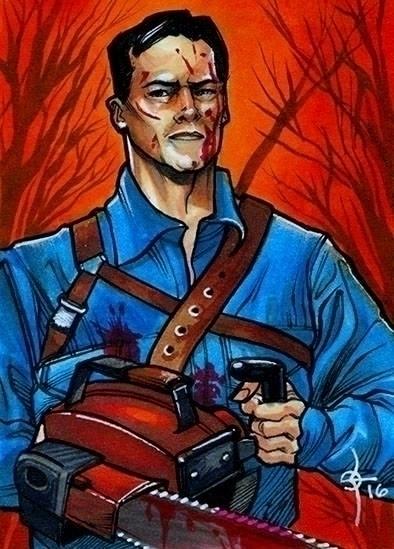 Ash Evil Dead - illustration, ashvsevildead - leonbraojos | ello