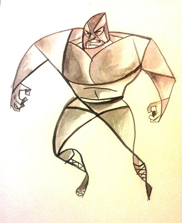 Luchador - doodle, sketch, wrestler - artsypabster | ello
