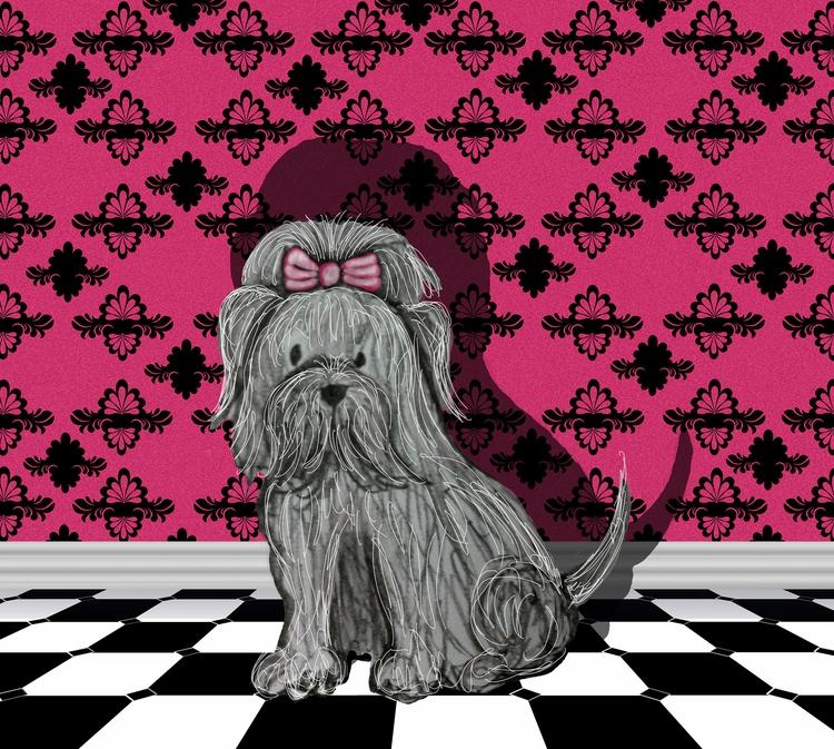 Small Terrier Bow - illustration - elizabethboylan | ello