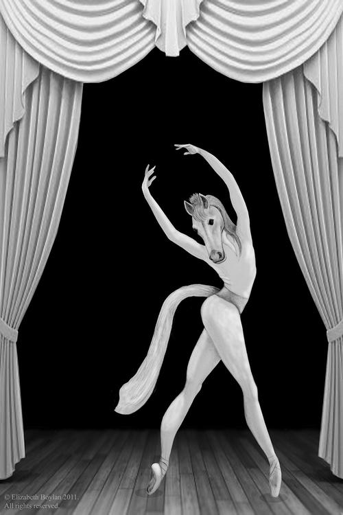 Horse costumed ballerina - illustration - elizabethboylan | ello