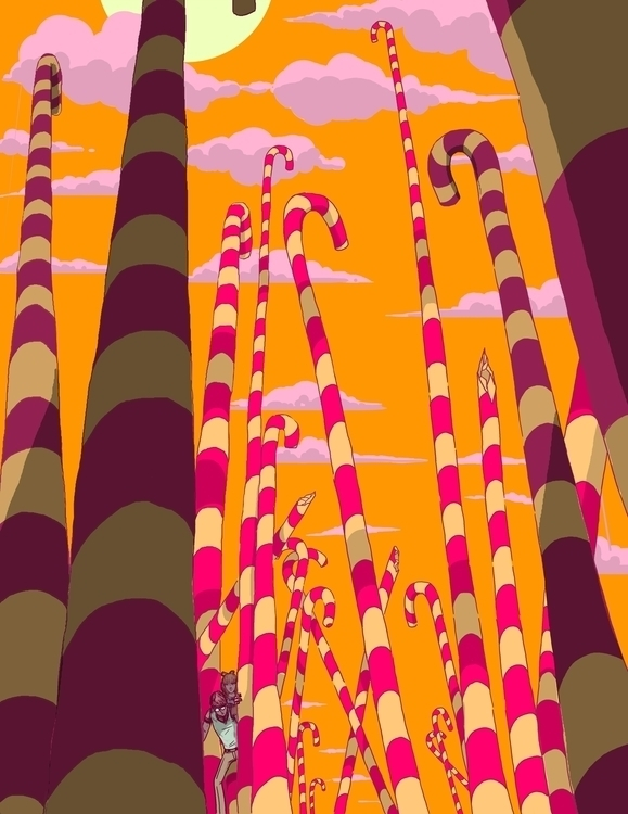 Candyland - illustration, environmentdesign - jversoi_illo   ello