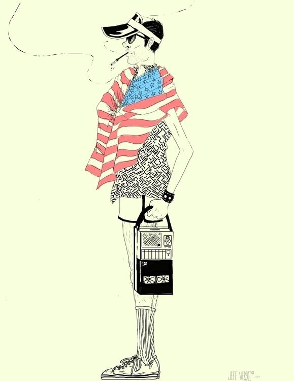 Quick sketch Hunter Thompson - gonzo - jversoi_illo | ello