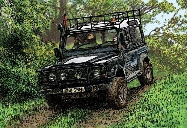 Land Rover swb Powis. card Etsy - dannybriggs   ello