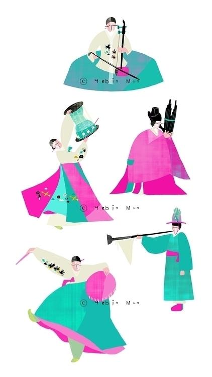 Korean Tranditional Music - illustration - yebin | ello