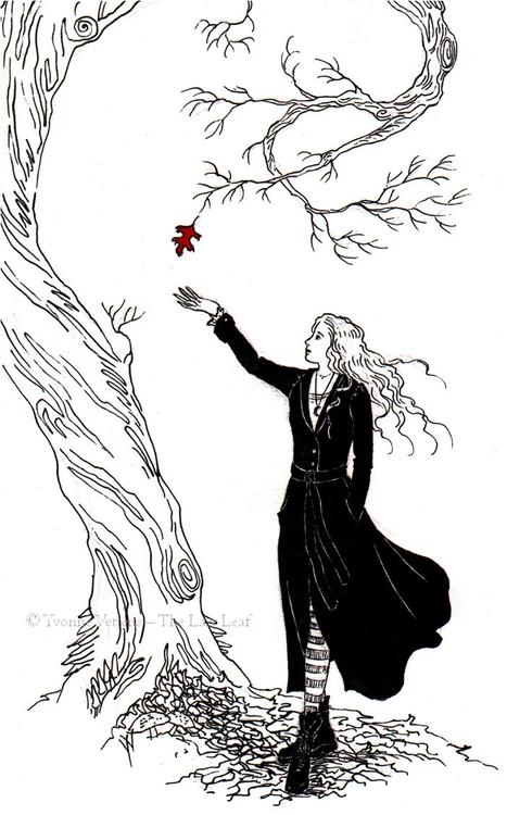 Leaf'. Ca. A4-size. Ink paper - illustration - dutchpagan | ello