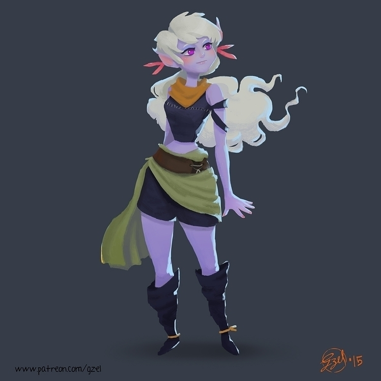 Branch Thief - characterdesign, illustration - gzel | ello