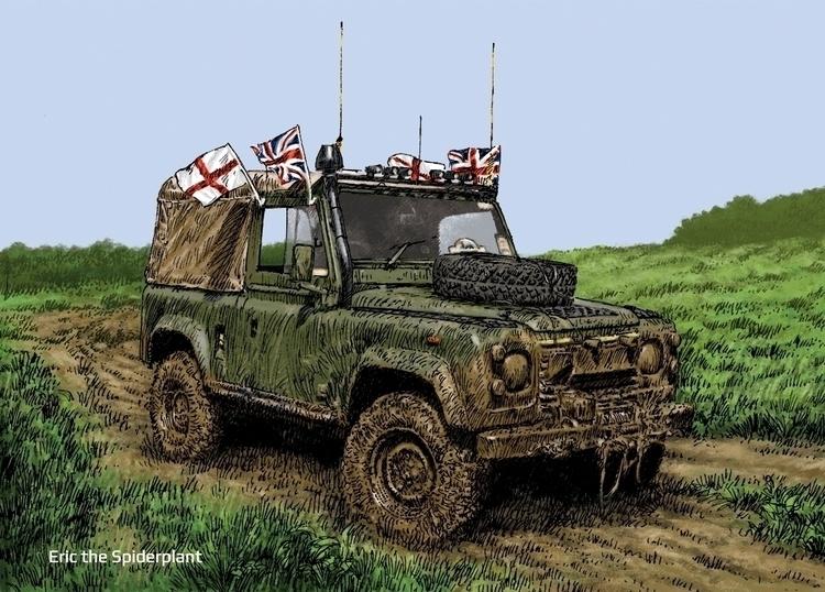 Land Rover swb Newark - #illustration - dannybriggs | ello