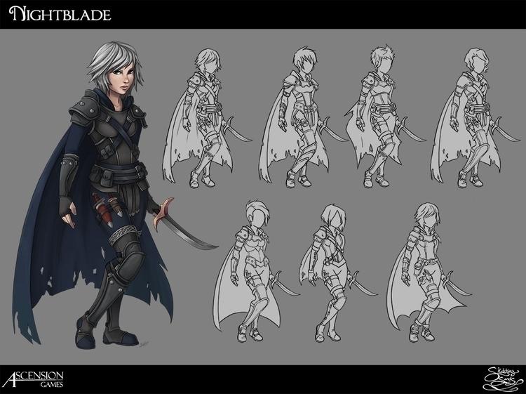 Nightblade concept Path Shadows - sketchingsands | ello