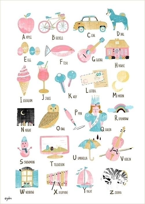 abc alphabet chart - illustration - yebin   ello