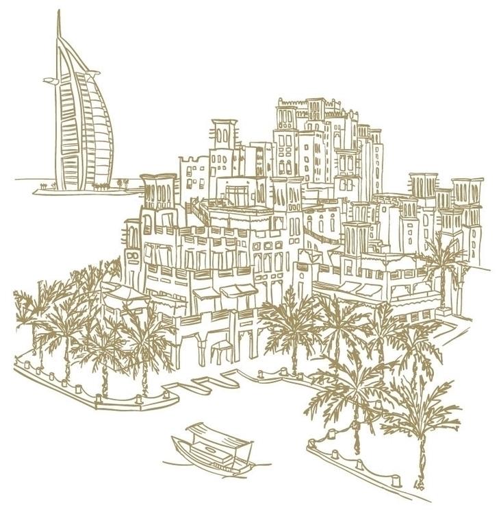 Madinat Jumeirah - illustration - mp-1845 | ello