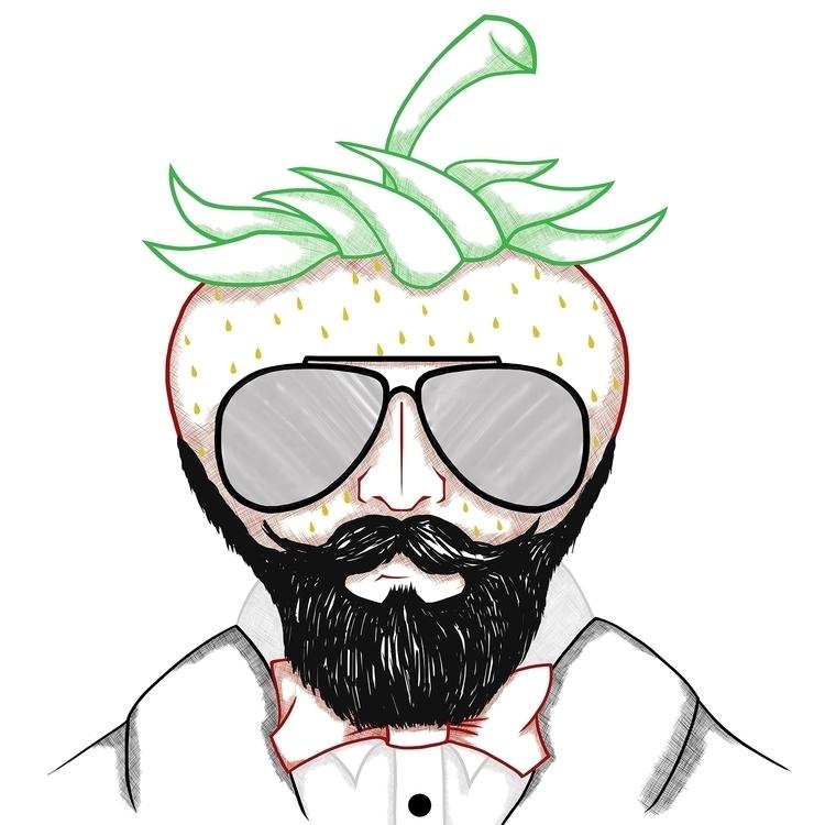 Hedonistic Strawberry - illustration - mp-1845 | ello