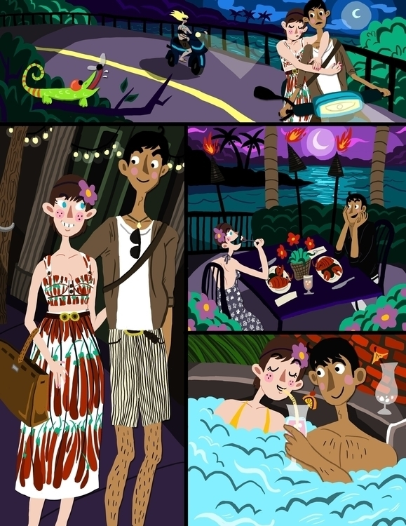 Vacation 2 - comic, datenight, couple - chantalrae-8248 | ello