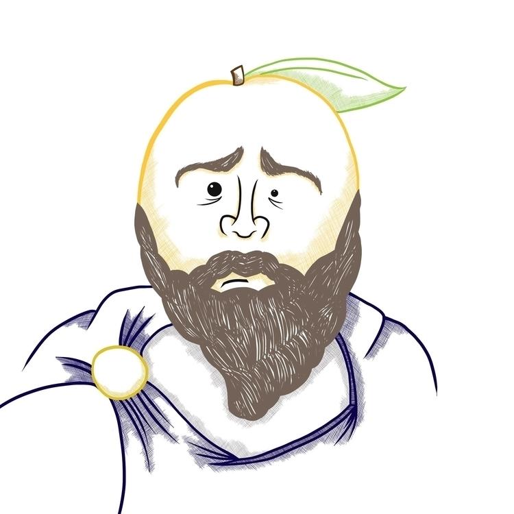 Stoic Mango - illustration, characterdesign - mp-1845 | ello