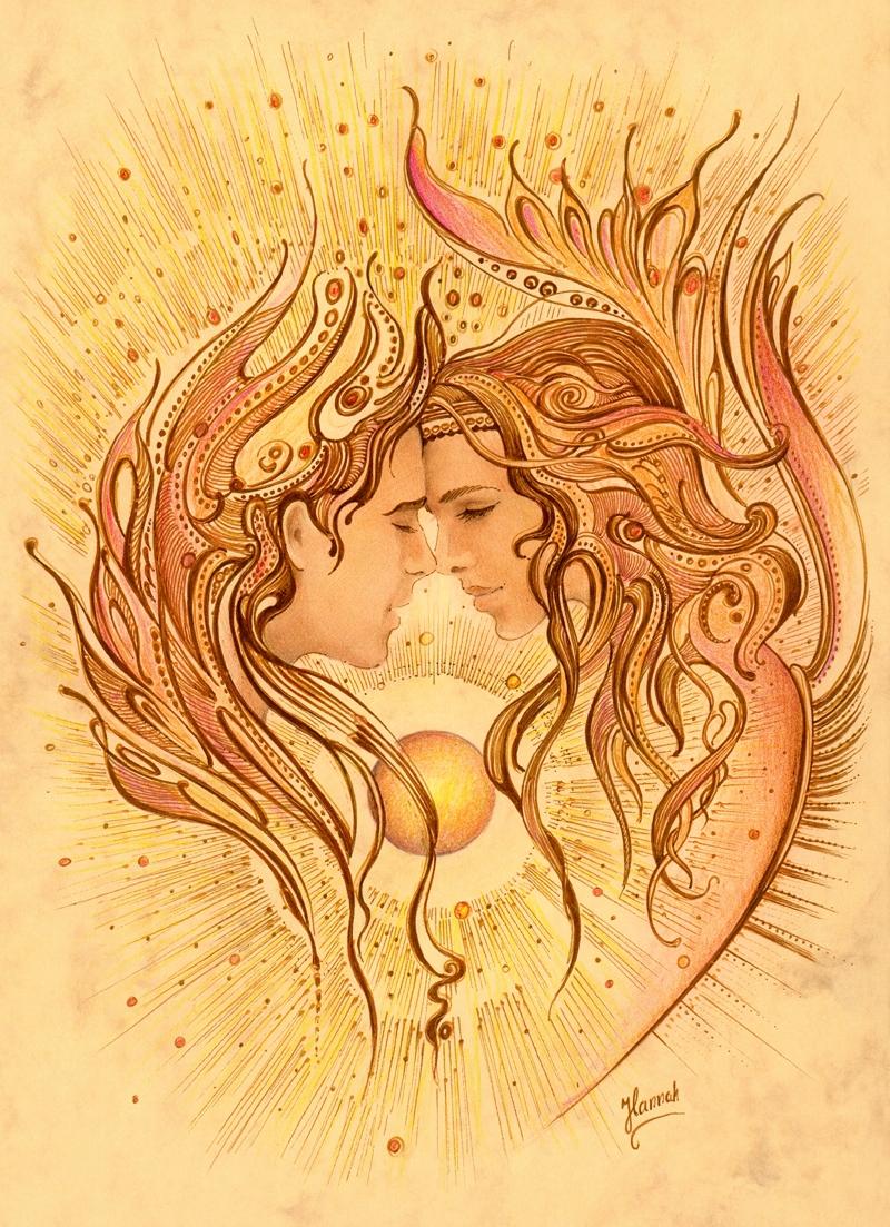 Intimacy -drawing Love Angels s - annahannahart   ello