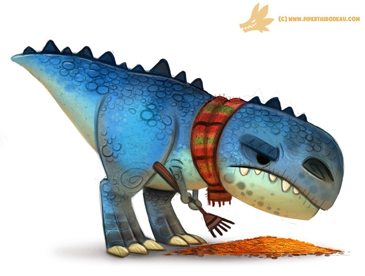 Daily Paint Autumn Dinos - Tyra - piperthibodeau | ello
