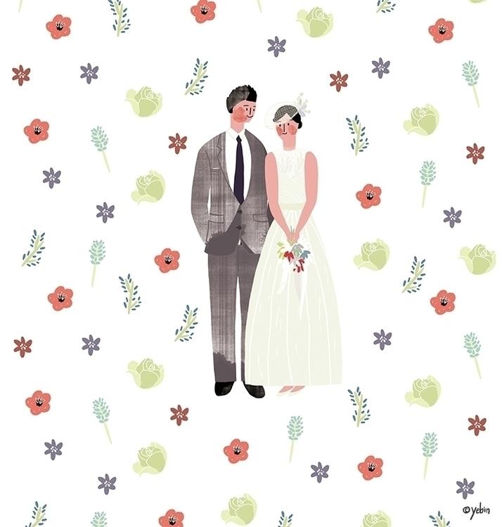 wedding illust - illustration, painting - yebin | ello