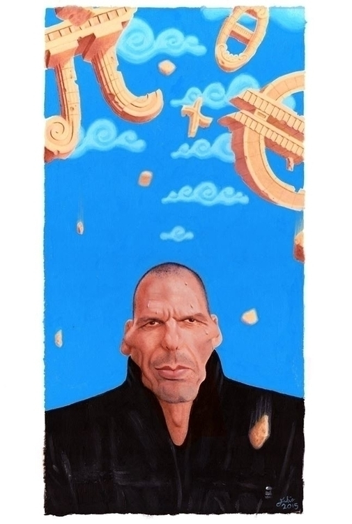 Yanis Varoufakis - Pi Sky - illustration - fabiopaolucci | ello