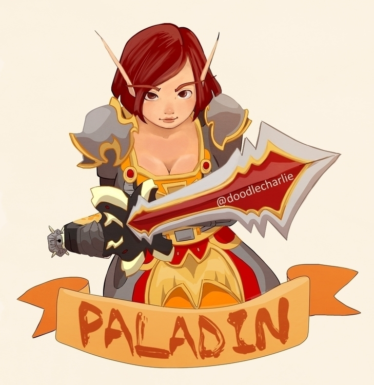 wow, worldofwarcraft, paladin - doodlecharlie | ello