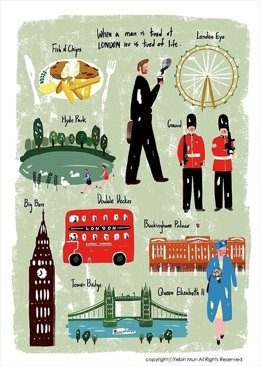 United Kingdom,UK,England - illustration - yebin | ello