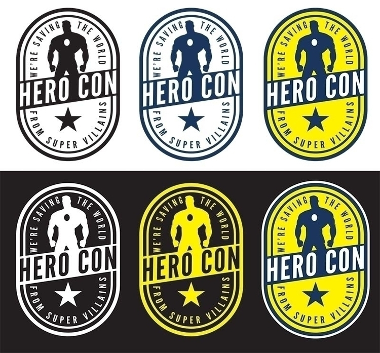 Hero Con logo designed. fake ev - mattfontaine | ello