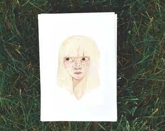 Blonde girl - illustration, painting - bizarreamie | ello