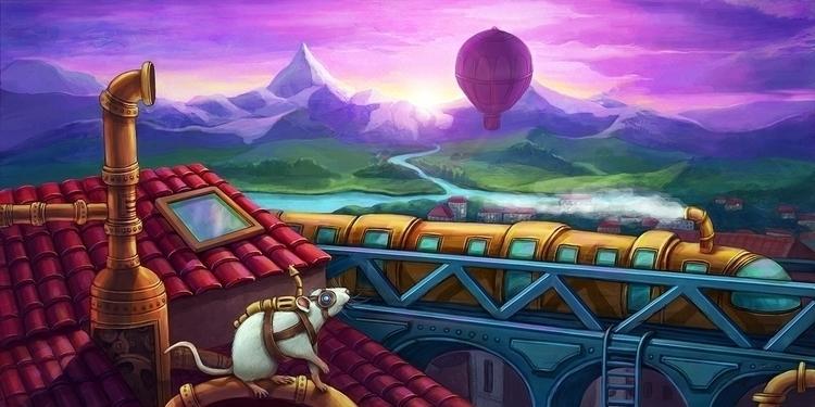 world rats - illustration, painting - solei-6035   ello