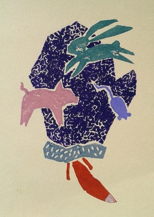 Glove - illustration, painting, children'sillustration - odarkaluhihi | ello