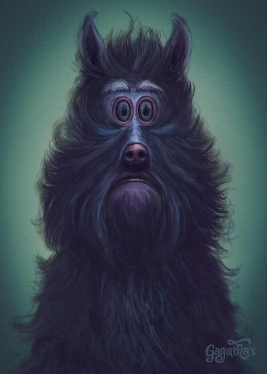 Monsters afraid - digitalpainting - gagatka | ello