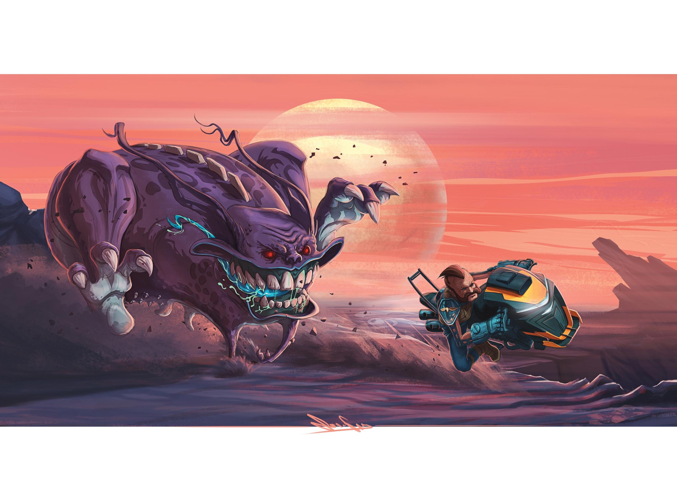 Monster Race - painting, drawing - jeangab-9125   ello