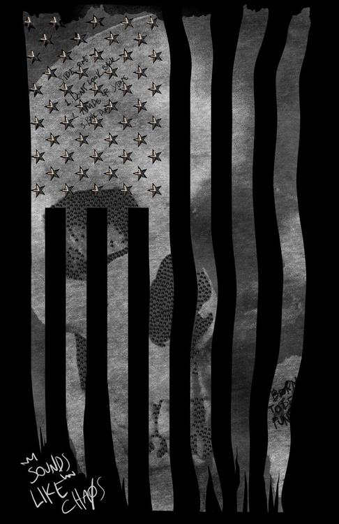 Skull Flag - illustration, fashion - seren-1097 | ello