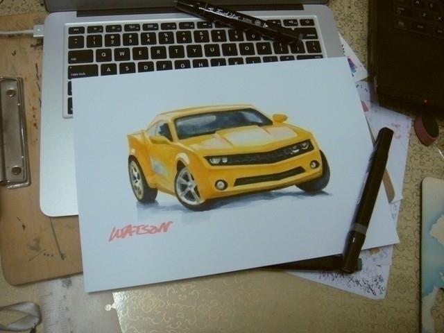 drawing, design, markers, rendering - watsonlai | ello