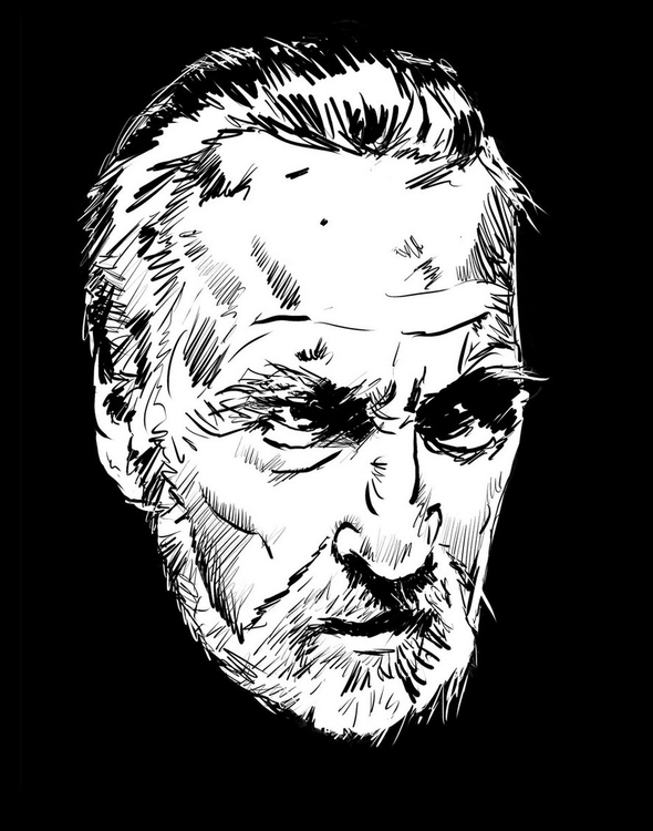 Christopher Lee portrait - mattfontaine - mattfontaine | ello