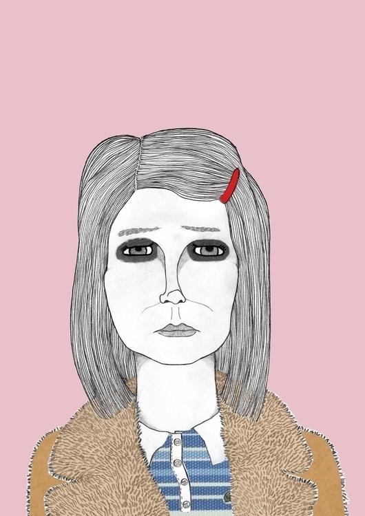 Margot Tenenbaum - illustration - danisdrawings | ello