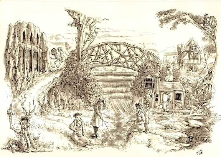 Bearwood art history illustrati - jowybeanstudios | ello