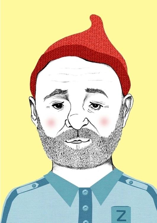 Steve Zissou - illustration, portrait - danisdrawings | ello
