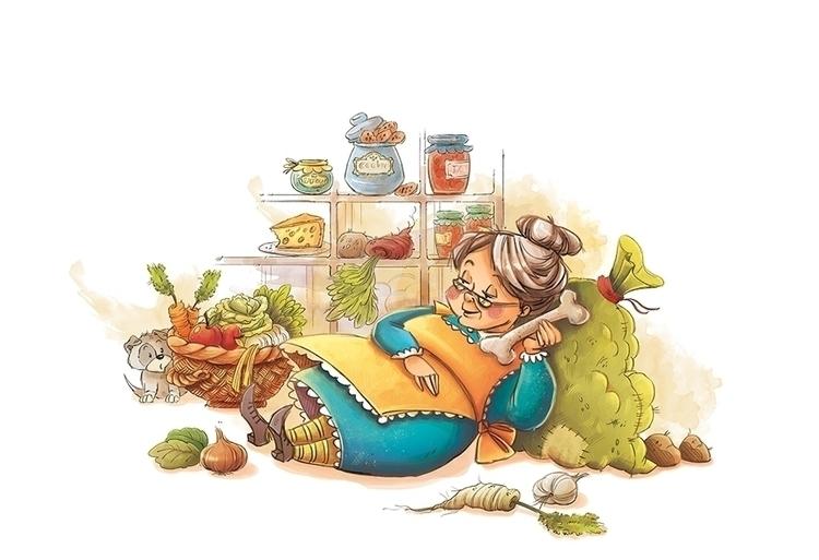 granny, illustration, cute, children'sillustration - marinaveselinovic   ello