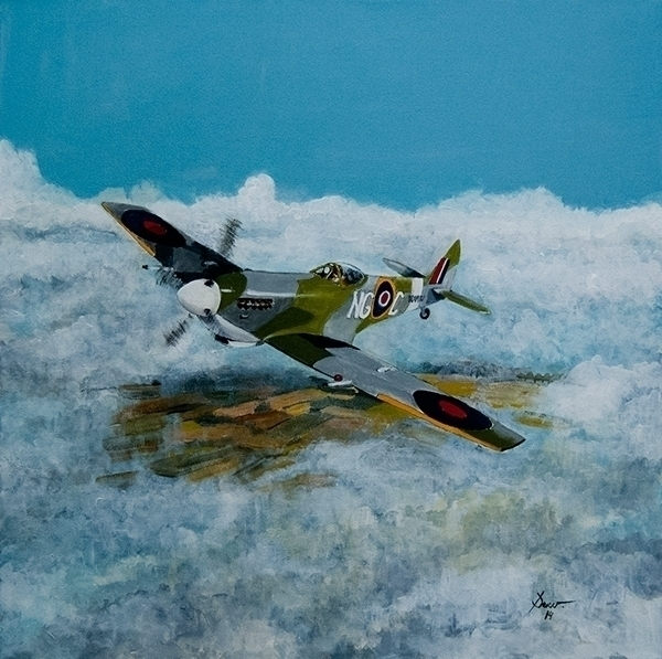 Spitfire. Acrílico sobre lienzo - antonio-7460 | ello
