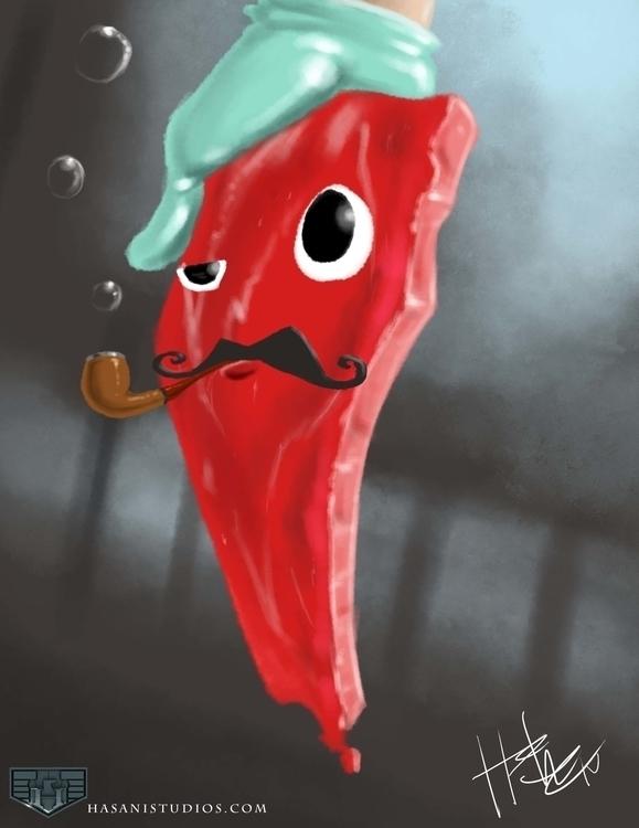 Meat Mysteries - illustration - hasaniwalker | ello