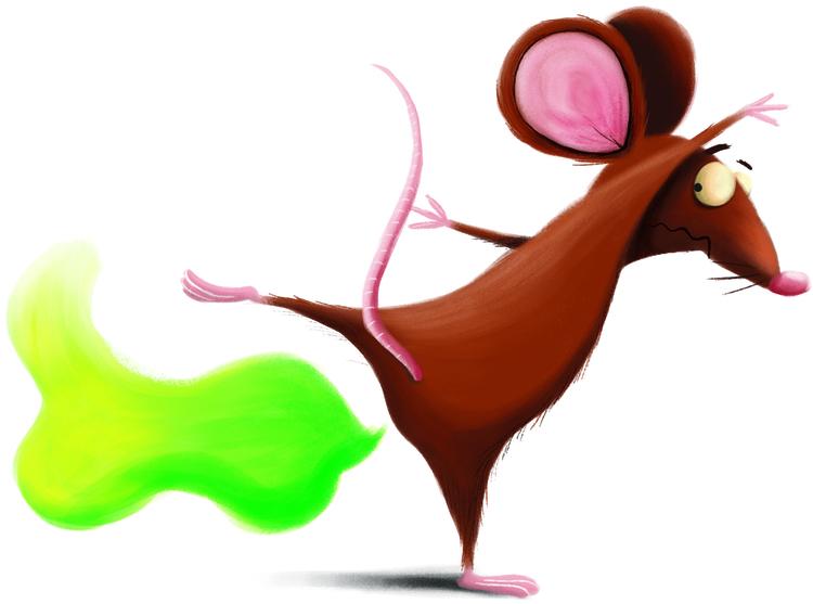 illustration, fart, mouse - cpowell-1234 | ello