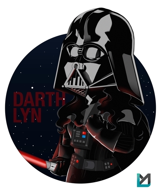 Commission Darth Girl - illustration - luismonroy | ello