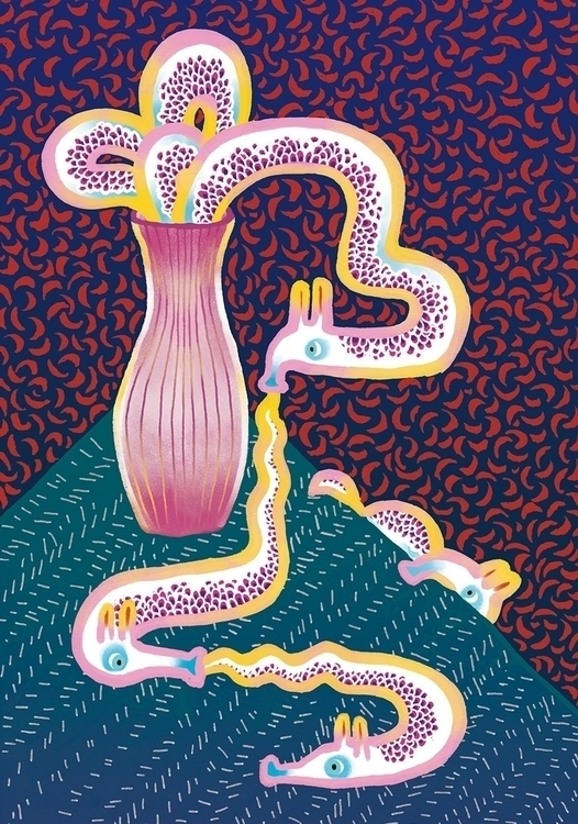 vase - illustration, animal, snake - yuhsuan | ello