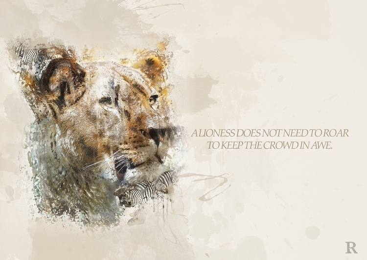 Roar - lion, typography, photomanipulation - rhayvencoats | ello