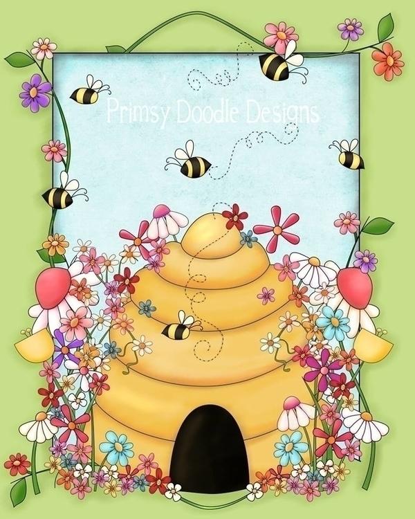 Beehive Flag - illustration - lisacraig | ello